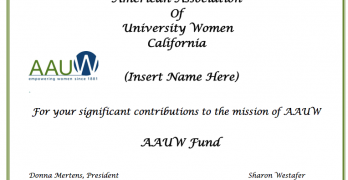 AAUW Fund Certificate Templates
